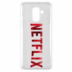 Чехол для Samsung A6+ 2018 Netflix logo text
