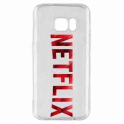 Чехол для Samsung S7 Netflix logo text