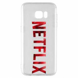 Чехол для Samsung S7 EDGE Netflix logo text
