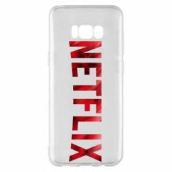 Чехол для Samsung S8+ Netflix logo text