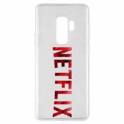 Чехол для Samsung S9+ Netflix logo text