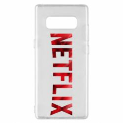 Чехол для Samsung Note 8 Netflix logo text
