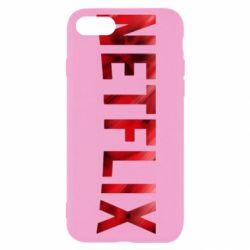 Чехол для iPhone 8 Netflix logo text
