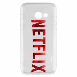 Чехол для Samsung A3 2017 Netflix logo text