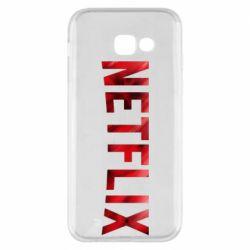 Чехол для Samsung A5 2017 Netflix logo text