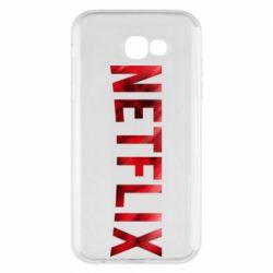 Чехол для Samsung A7 2017 Netflix logo text