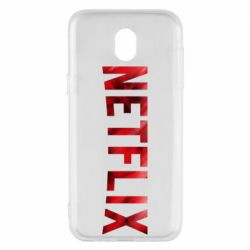 Чехол для Samsung J5 2017 Netflix logo text