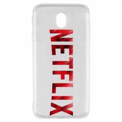 Чехол для Samsung J7 2017 Netflix logo text
