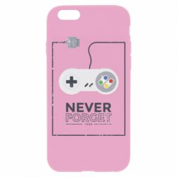 Чехол для iPhone 6/6S Never forget text