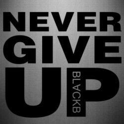 Наклейка Never give up 1