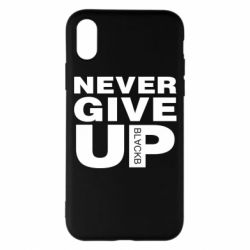 Чехол для iPhone X/Xs Never give up 1