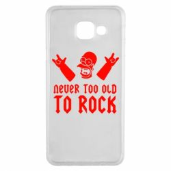 Чехол для Samsung A3 2016 Never old to rock (Gomer) - FatLine