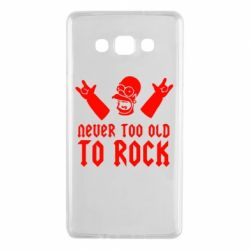 Чехол для Samsung A7 2015 Never old to rock (Gomer) - FatLine