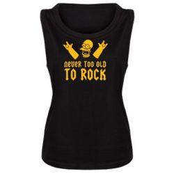 Женская майка Never old to rock (Gomer) - FatLine