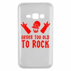 Чехол для Samsung J1 2016 Never old to rock (Gomer) - FatLine