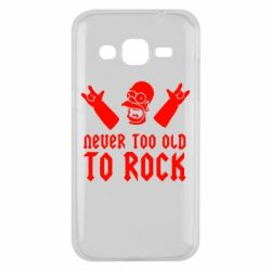Чехол для Samsung J2 2015 Never old to rock (Gomer) - FatLine