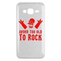 Чехол для Samsung J3 2016 Never old to rock (Gomer) - FatLine