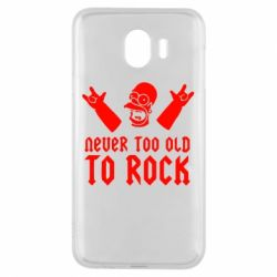 Чехол для Samsung J4 Never old to rock (Gomer) - FatLine