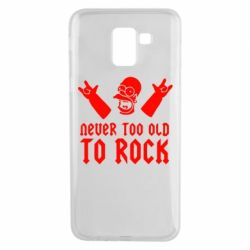 Чехол для Samsung J6 Never old to rock (Gomer) - FatLine