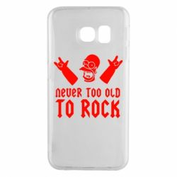 Чехол для Samsung S6 EDGE Never old to rock (Gomer) - FatLine