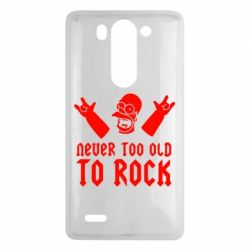 Чехол для LG G3 mini/G3s Never old to rock (Gomer) - FatLine