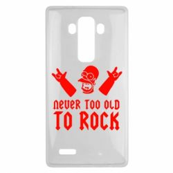Чехол для LG G4 Never old to rock (Gomer) - FatLine