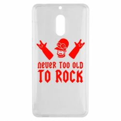 Чехол для Nokia 6 Never old to rock (Gomer) - FatLine
