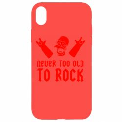 Чехол для iPhone XR Never old to rock (Gomer) - FatLine