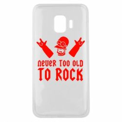Чехол для Samsung J2 Core Never old to rock (Gomer) - FatLine