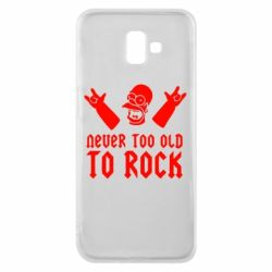 Чехол для Samsung J6 Plus 2018 Never old to rock (Gomer) - FatLine