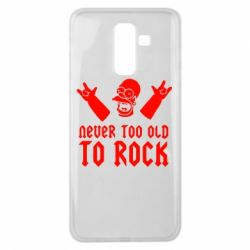 Чехол для Samsung J8 2018 Never old to rock (Gomer) - FatLine