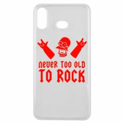 Чехол для Samsung A6s Never old to rock (Gomer) - FatLine