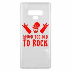 Чехол для Samsung Note 9 Never old to rock (Gomer) - FatLine