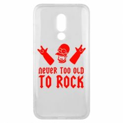 Чехол для Meizu 16x Never old to rock (Gomer) - FatLine