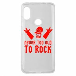 Чехол для Xiaomi Redmi Note 6 Pro Never old to rock (Gomer) - FatLine