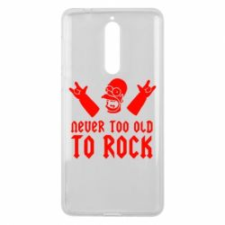 Чехол для Nokia 8 Never old to rock (Gomer) - FatLine
