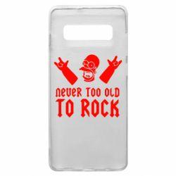 Чехол для Samsung S10+ Never old to rock (Gomer)