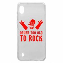 Чехол для Samsung A10 Never old to rock (Gomer)