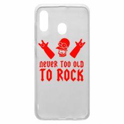 Чехол для Samsung A20 Never old to rock (Gomer)