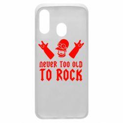 Чехол для Samsung A40 Never old to rock (Gomer)