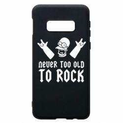 Чехол для Samsung S10e Never old to rock (Gomer)