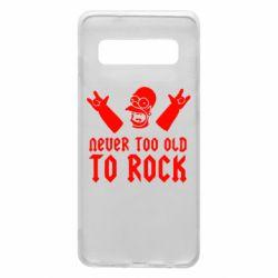 Чехол для Samsung S10 Never old to rock (Gomer)