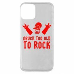 Чехол для iPhone 11 Never old to rock (Gomer)