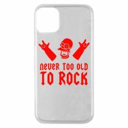 Чехол для iPhone 11 Pro Never old to rock (Gomer)