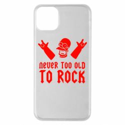 Чехол для iPhone 11 Pro Max Never old to rock (Gomer)