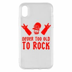 Чехол для iPhone X Never old to rock (Gomer) - FatLine