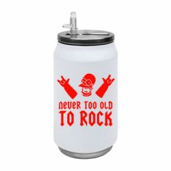 Термобанка 350ml Never old to rock (Gomer)