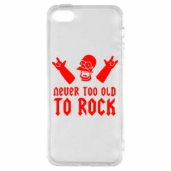 Чехол для iPhone5/5S/SE Never old to rock (Gomer) - FatLine