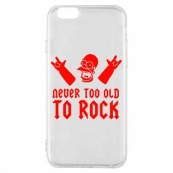 Чехол для iPhone 6/6S Never old to rock (Gomer) - FatLine