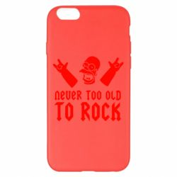 Чехол для iPhone 6 Plus/6S Plus Never old to rock (Gomer) - FatLine